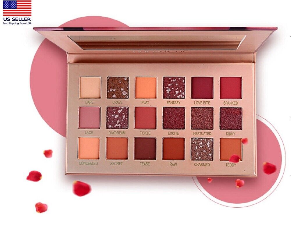 18 Colors Eyeshadow Palette Beauty Makeup Matte Shimmer Eye Shadow Cosmetic US Eye Shadow