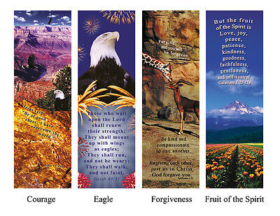 BACK TO SCHOOL SPECIAL 1 lot 100 Inspirational Bookmark tracts with Bible verses