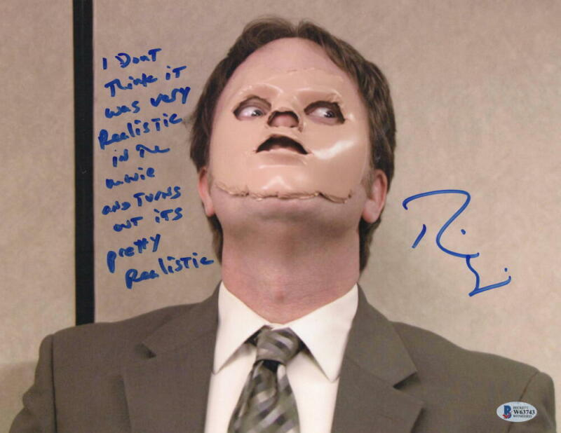 RAINN WILSON DWIGHT SIGNED THE OFFICE 11X14 PHOTO AUTOGRAPH QUOTE PROOF BECKET