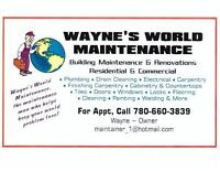 ♥WAYNE'S WORLD MAINTENANCE♥ (780) 660-3839 → SEE OUR VIDEO ←