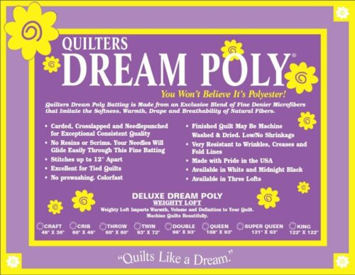 Quilters Dream Poly Deluxe Batting-weighty Loft Super Que...