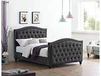 Fastest Delivery Service Charcoal Grey Contemporary Design BRAND NEW BOXED Double Bed King Bed