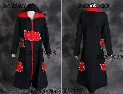 N-02 Naruto Akatsuki Sasuke Team Taka Kapuzen Mantel Umhang Coat Cosplay Kostüm