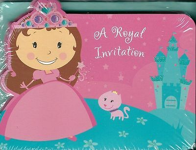 Fairy Princess Birthday Invitations - Princess Invitations Cards 10 Pack Girls Birthday Party Castle Fairy Pink Blue