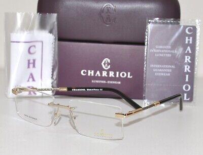 Philippe Charriol Men's Rimless Eyeglasses Lunettes PC75035 C01 Gold/Silver (Lunettes Glasses)
