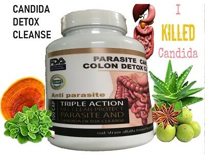 Parasite Cleanse DETOX Liver Colon Yeast Blood KILL Killer vital 200 Cap XL cure 2