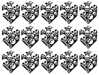 5 New Sets Winmau Embossed Standard Dart Flights – Multi Skulls