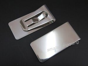 Cool-New-Slim-Stainless-Steel-Money-Clip-Pocket-Wallet-money-card-holder