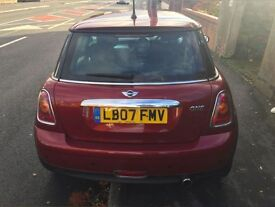 Knight Fire Red/ Bugndy Mini One 1.4 2007