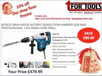 Bosch GBH5-40DCE Rotary Demolition Hammer SDS-max Professional 110V 90mm Core Drill