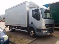 FOR SALE 2008 DAF 7.5T BOX WITH TAIL LIFT NEW MOT GOOD CONDITION ONLY £5800 NO VAT