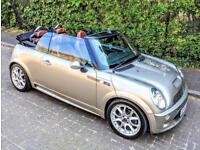 Mini S Cooper convertible Low milage Beautiful colours for S Summer time car