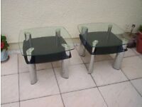 glass-top occasional/side tables