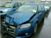 2010 AUDI A3 1.9TDI BLUE DOOR WING MIRROR ALLOYS SUSPENSION TAILGATE BUMPER GEARBOX TURBO INJECTOR