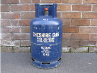 Cheshire Gas butane 13kg empty bottle