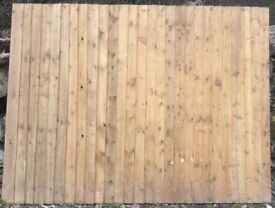 Feather Edge Fence Panel 219cm x 165cm