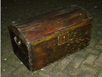 Stunning antique Victorian domed chest with original lock and handles
