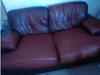 Two seater leather sofa for free collection