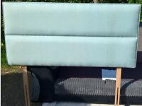 Ex-display Myers Duck Egg Blue Upholstered Single Headboard.