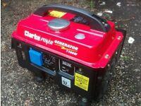Lightweight Portable Quiet Petrol Generator UK Mains 240v 1.1kW