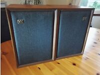 Vintage Pair of Wharfedale Speakers c1970s - wooden case - Quality sound in excellent condition