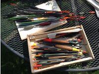 Mixed batch of fishing floats