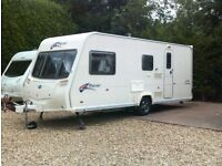 Bailey pageant champagne series 6 four berth touring caravan year 2008 in excellent condition .