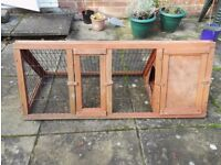 High Quality, Wooden, Triangular Shaped Rabbit / Guinea Pig Hutch/Cage With Built In Run