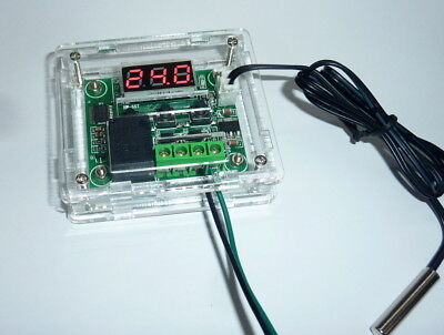DC 12V Digital Heat / Cool Temperature Control Switch Relay with acrylic case