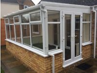 White upvc conservatory in good condition, already dismantled and ready to go