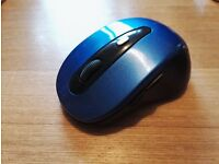2.4GHZ Wireless Cordless Optical Mouse For PC Computer with USB Dongle - Blue