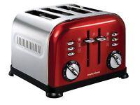 Red Morphy Richards 4 slice toaster