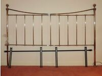 Nickel Plated Traditional Super King Size Headboard 6' (1.80m)