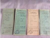 Tractor log books - ford, fordson, Massey Ferguson, David brown, Nuffield