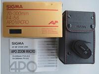 Sigma APO Macro 70-300 mm F/4-5.6 AF D Lens - Nikon Fit