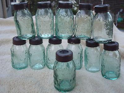 Miniature Mason Fruit Jar CHRISTMAS TREE ORNAMENT LIGHT GLOBES Set of 12  SALE!!
