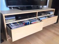 Ikea TV Bench with shelf for equipment and drawers for DVDs