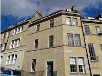 Impressive, very spacious, 1 bedroom plus study/nursery, first floor flat, central Bath