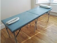 Massage table in good condition for sale -the table is 183cm(l)x 62cm(w) -when folded 92(l)cm x 62cm
