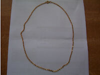Two 9 carat gold plated chains (1 with pendant)