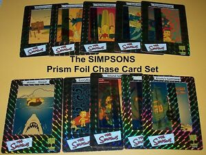 The SIMPSONS - PRISM FOIL Chase Set    - TRADING CARDS    COMPLETE BASE SET