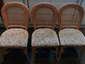 Set of 3 wicker chairs