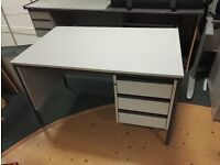 Office desk, three drawer, grey - Free to a good home