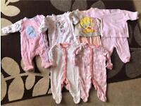 Baby Girls Sleepwear Bundle 0-3 Months