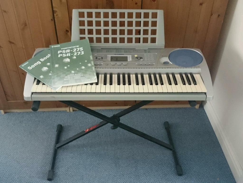 Yamaha psr 275 portable keyboard and stand with cover for Yamaha piano keyboard models