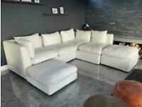 White Oka Modular Sofa