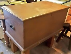 Vintage pine blanket box or coffee table