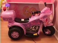 Girls princess electric motorbike