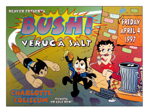 Bush & Veruca Salt 1997 Original Concert Art Print Poster By David Dean
