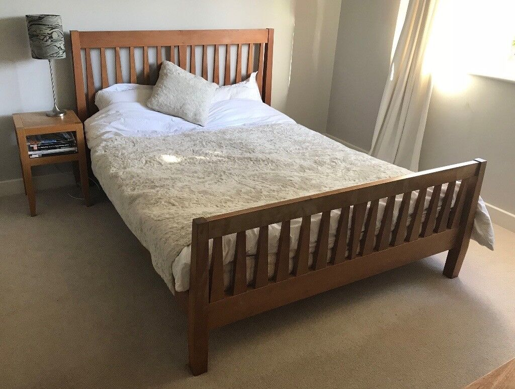 King Sized Cherry Wood Bed frame | in York, North ...